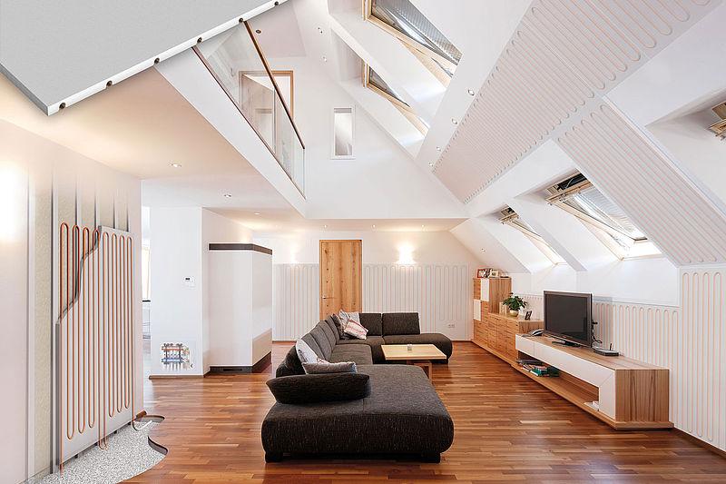 wandheizung wandk hlung variotherm. Black Bedroom Furniture Sets. Home Design Ideas