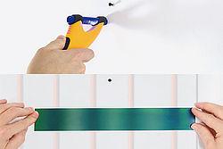 Con el localizador de tubos Variotherm y la lámina térmica, los tubos compuestos de aluminio multicapa también se pueden ubicar retrospectivamente en el caso de calentamiento / enfriamiento de la pared.