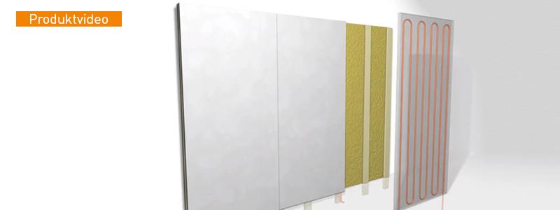 La calefacción / refrigeración de pared del módulo Variotherm se instala rápidamente y funciona mediante energía radiante.