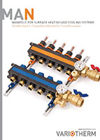 Manifolds for surface heating and cooling systems